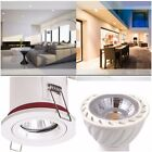 1/4/6/10/20/30 X FIRE RATED WHITE IP20 Ceiling Downlights  5 Watt LED BULB