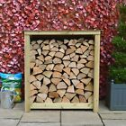 Greetham 4ft Outdoor Wooden Log Store - Reversed Roof - UK HAND MADE