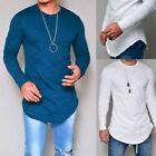 Mens Long Full Sleeve T shirts Tee Tops Silm Fit Autumn Fall 4 Colors Rmelige