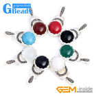 Colorful Coin Beads Marcasite Silver Pendant 18.5mm x41mm FREE Gift Box +Chain