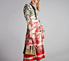 Occident Fashion Modern Vintage Printed Makings Women Pleated Dress Autumn New