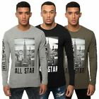 Loyalty & Faith Mens Long Sleeve T Shirt Crew Neck City Printed Branded Tee