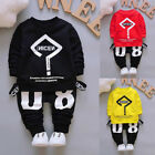 toddlers tracksuits - US Toddler Kids Baby Boys Outfits T-shirt Tops+Long Pants Tracksuit Clothes 2PCS