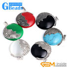 Fashion coin bead marcasite silver pendant 36x47mm FREE gift box +necklace chain