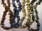 "18"" NATURAL STONE CHIP NECKLACE magnetic clasp~BEADS for crafts CHOOSE SEVERAL"