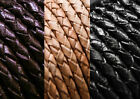 3mm Braided Bolo 100% Real Leather High Quality Cord in Black Brown Natural
