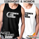 STRENGTH AND HONOR Men Muscle T-Shirts Tank Cotton Sleeveless Fitness MMA c597