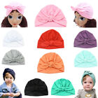 Внешний вид - Baby Turban Headwraps Knot Girl 100% Headbands Cute Newborn Full-head Cotton