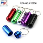 keychain pill holder - Waterproof Aluminum Medication Pill Container Box Bottle Case Keychain Holder