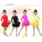 Latin Salsa Ballroom Dance Dress KIDS Girls Dancewear Costumes Children Dress SC