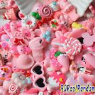lot 50Pcs Pink Blessing bag Squishy Charms Squeeze Slow Rising Toy Collection