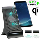 Fast Qi Wireless Charger Charging Stand for Samsung Galaxy Note 8 S8 iPhone X 8+
