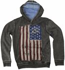 Boys Hoodies USA Flag Hooded Top Long Sleeved Jumper Kids Clothes Ages 8-13 Year