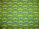 """100% Cotton Fabric NFL Seattle Sounders FC Fabric 54"""" Wide Licensed Sold BTY"""