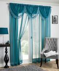 Savannah Tassel Fringe Sparkle Voile Net Curtain Swags Single - All Colours