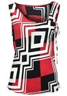 NEW LADIES SCOOP NECK TOP BLACK/WHITE/RED SLEEVELESS PARTY HOLIDAY