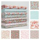 SWEETHEART SMALL FLORAL COTTON FABRIC aqua blue and pale pink QUILTING CRAFTS