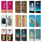 HEAD CASE MIX CHRISTMAS COLLECTION LEATHER BOOK CASE FOR LG STYLUS 3 / K10 PRO