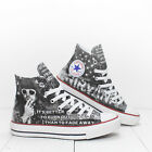 Custom Nirvana Pennyroyal Tea Converse All Star sneakers Kurt Cobain print shoes