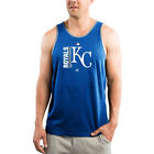 Majestic Kansas City Royals Royal/Gray Authentic Collection Team Icon Tank Top