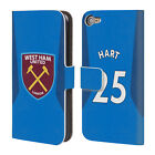 WEST HAM UNITED FC 2017/18 AWAY KIT 2 LEATHER BOOK CASE FOR APPLE iPOD TOUCH MP3