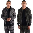 Loyalty & Faith Mens Casual Zip Up Hoodie Camo Print Kangaroo Pockets Jacket
