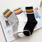 Soft Women Striped Skateboarding Autumn Winter Sports Socks for Female