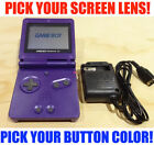 Nintendo Game Boy Advance GBA SP Purple System AGS 001 Pick Your Buttons!