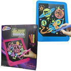 GRAFIX GLOW IN THE DARK LED WRITING DRAWING SCRIBBLE BOARD WITH PENS KIDS XMAS