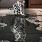 Cat and Tiger DIY 5D Diamond Embroidery Painting Cross Stitch Home Decoration JR