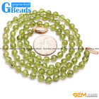Handmade Freefrom Round Green Peridot Gemstone Fashion Long Necklace 19-20""