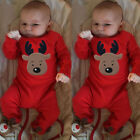 Newborn Infant Baby Kid Girls Boys Xmas Clothes Romper Jumpsuit Pajamas Outfits
