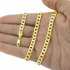 10K Yellow Gold 2mm-11mm Curb Cuban Chain Link Pendant Necklace Bracelet, 7