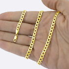 "10K Yellow Gold 2mm-11mm Curb Cuban Chain Link Pendant Necklace Bracelet, 7""-30"" <br/> GUARANTEED 10K PURE GOLD 
