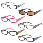 GAMMA RAY 6 Pairs Women's Spring Hinge Reading Glasses Readers w/ Magnification