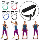 Resistance Band Set Yoga Pilates Abs Exercise Fitness Tube Workout Bands US image