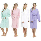 Ladies 100%  Cotton Waffle Dressing Gown Robe  S M L