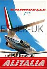 Retro Vintage Aviation Posters in A4 Size - KLM, British Airways, PAN AM, Virgin