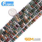 Natural Indian Agate Rondelle Spacer Beads For Jewelry Making Free Shipping 15""