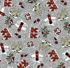 JANE MAKOWER - CHRISTMAS SANTA IN THE SNOW 100% COTTON FABRIC QUILTING CRAFTS