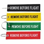 Remove Before Flight Key Chain Embroidery Key Ring Key Finder For Cars Aviation