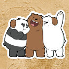 We Bare Bears Brothers Panda Grizzly Ice Car Window Wall Die Cut Decal Sticker