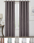 2 Pack: Regal Home Tessa Metallic Blackout Grommet Curtains - Assorted Colors