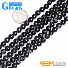 """Natural Round Banded Black Sardonyx Agate Gemstone Beads For Jewelry Making 15"""""""