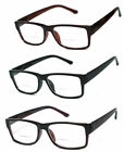 1 or 2 Pairs Bifocal Clear Lens Reading Glasses Retro Square Frame Spring Temple