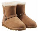 NEW Kirkland Signature Girls' Shearling Buckle Boots with Studs