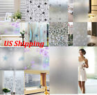 Frosted Glass Waterproof Film Static Cling or glue Office Bathroom Home Window