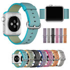 Women Men Durable Nylon Wrist Watch Band Strap For Apple Watch iWatch 38mm/42mm