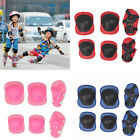 6 Pcs 4-16 Years Kids Roller Skating Knee Elbow Wrist Pads Protective Gear Sets