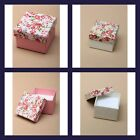 SMALL FLORAL JEWELLERY GIFT BOX RINGS EARRINGS BROOCHES PINS SIZE 5X5X3CM NEW